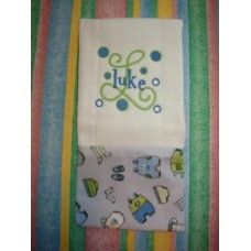 freebie Banded Burp Cloth Tutorial by Five Star Fonts
