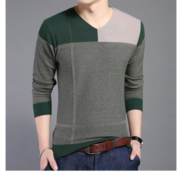 Fashion Loose Sweaters Men V-Neck Loose Casual Kniting Men Pullovers Men Thin Sweaters #Affiliate