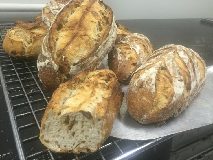 White sourdough with dates. Sunflower seeds and walnuts