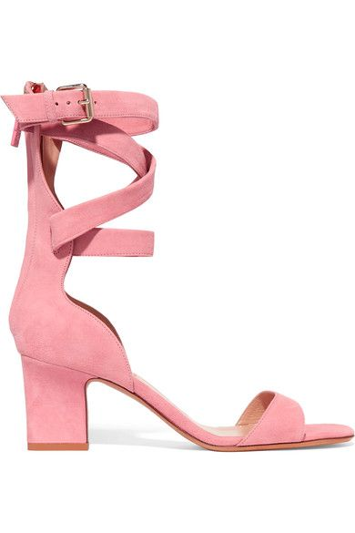Valentino - Suede Sandals - Baby pink - IT35