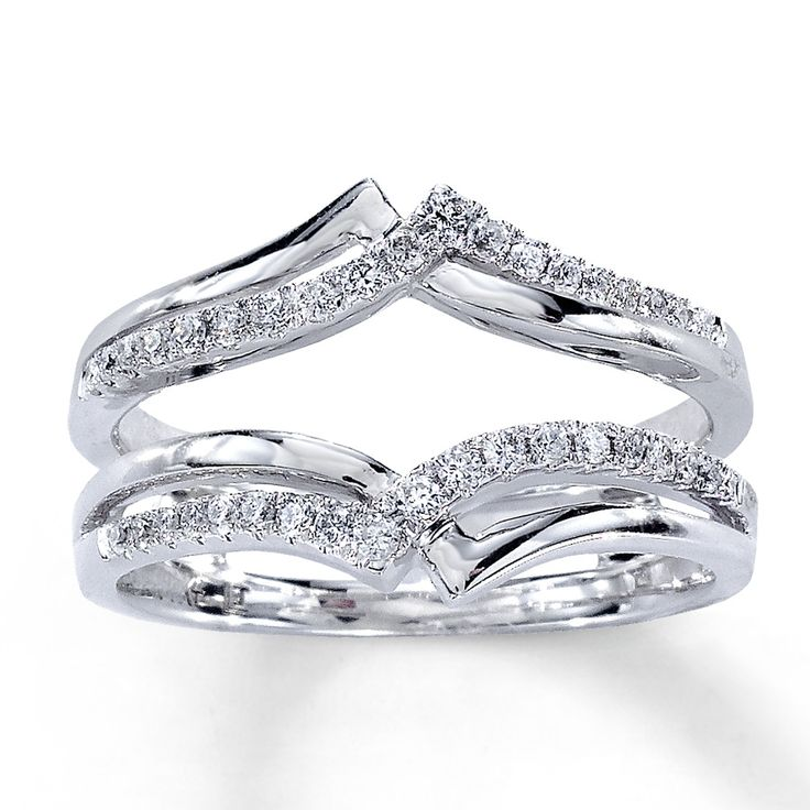 Diamond Enhancer Ring - you put your engagement ring in the middle!