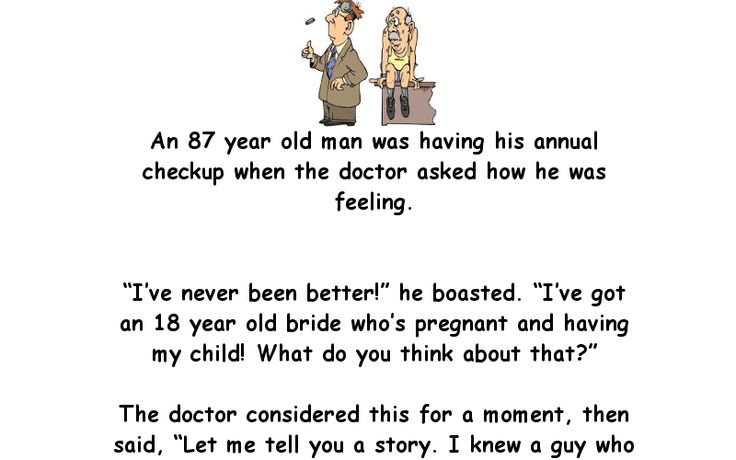 Old man gets his young bride pregnant - Funny Story - Doctor, Joke, Old Man, Young Bride