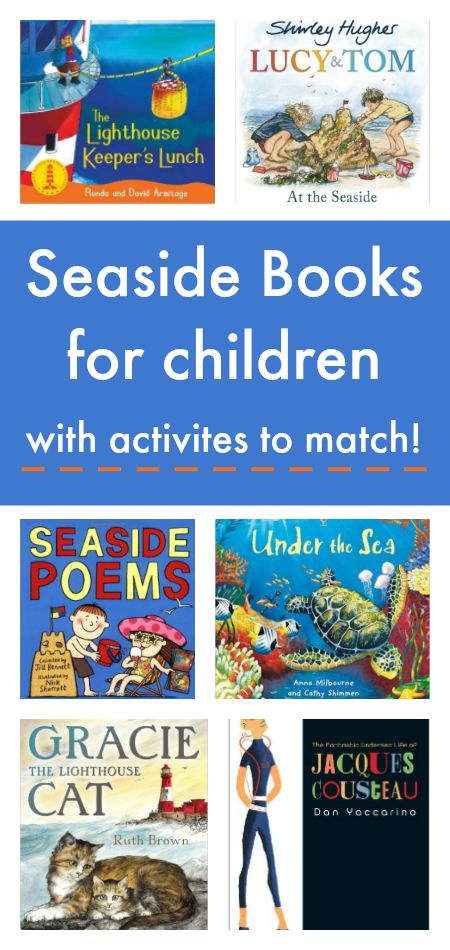 Children's books about the sea with seaside activities to match