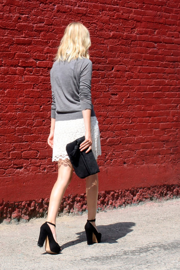 Marie, Los Angeles: Photos, Shoes, Lace Minis Skirts, Dresses, Blocks Heels, Los Angeles, White Eyelet Skirts, Grey, 60