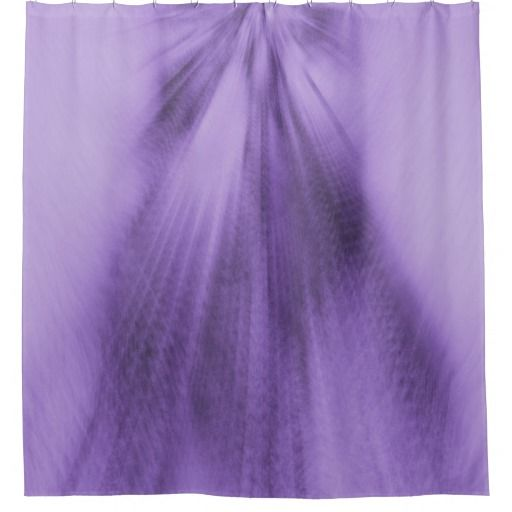 Exploding Lavender Shower Curtain