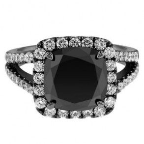 This Black Cushion Cut Black Gold Diamond Engagement Ring comes with an AAA in clarity & the total gem weight is equal to 7.0 carats. Diamonds are 100% natural.
