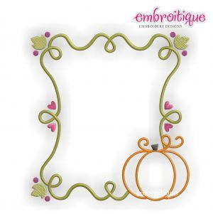 Pumpkin Vine Fall Font Frame  machine Embroidery by Embroitique, $2.99
