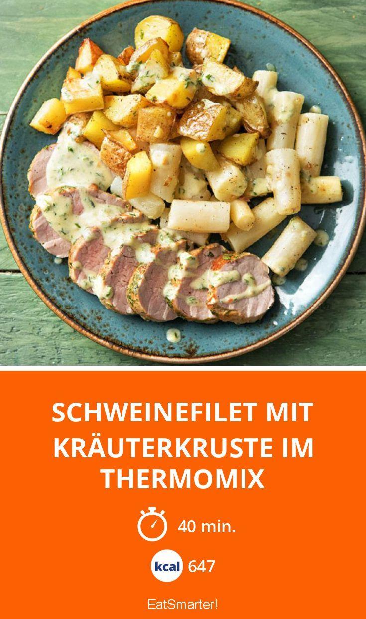 Schweinefilet mit Kräuterkruste im Thermomix - smarter - Kalorien: 647 Kcal - Zeit: 40 Min. | eatsmarter.de