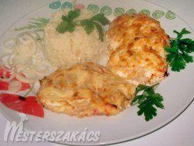 Tejfölös csirkesszeletek recept
