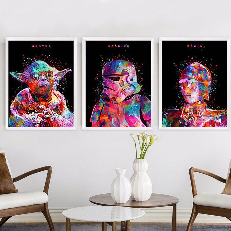 Star Wars Movie Characters Canvas Poster Print Painting Modern Home Wall Decor | Art, Art Posters | eBay!