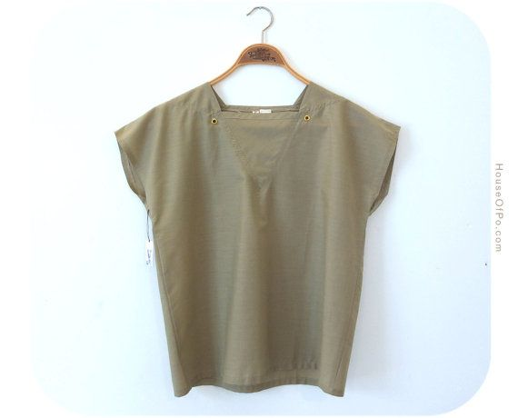 80s olive green top 80s top by PoVintage on Etsy, €19.00