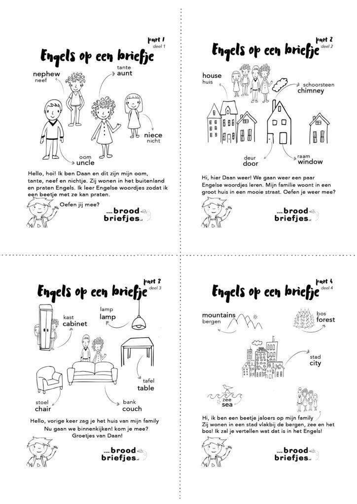 Bijzondere briefjes deze week: Engelse woordjes met de Nederlandse vertaling. Reden? Een 'family visit' vanuit Engeland.Onze kids redden zich prima in het Nederlands en zelfs Frysk (Fries;-) lukt aardig. Engels wordt een beetje lastiger. Terwijl onze Nephew van… Continue Reading →