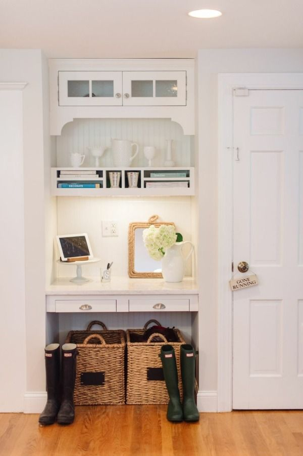 385 best entryways and mudrooms images on pinterest door for Kitchen office nook