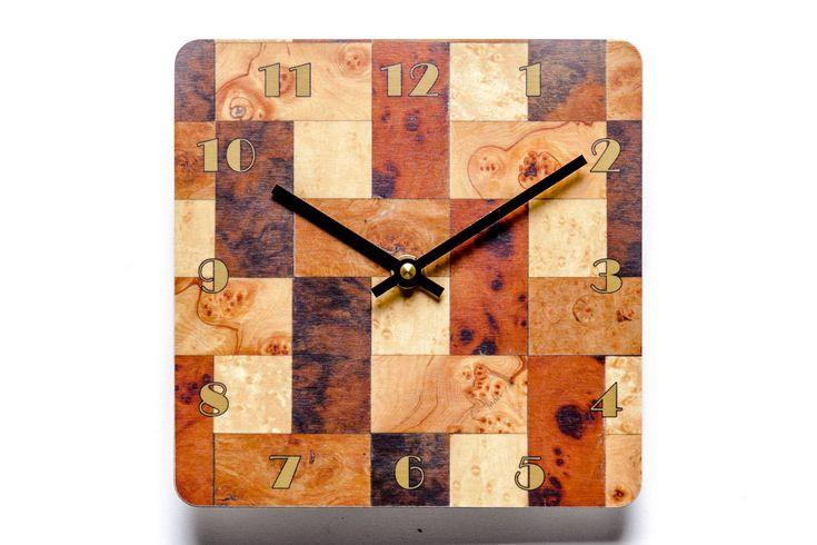 Wall Clock Brown Cream Wall Clock Kitchen clock Melamine Wall Clock Brown clock E Inder Designs Anniversary Gift Housewarming Gift Birthday by EInderDesigns on Etsy https://www.etsy.com/uk/listing/553910987/wall-clock-brown-cream-wall-clock