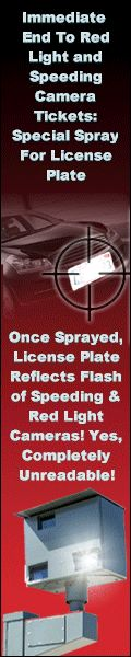 Stay safe on the roads, NEVER get a speeding or Red-Light camera ticket ever again with special secret license plate spray, reflects flash of cameras making reading the license plate impossible and therefore no ticket! http://www.prindc.com/keepsafe2.html