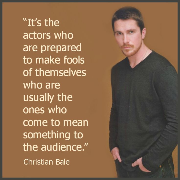 Movie Actor Quote - Christian Bale   - Film Actor Quote   #christianbale