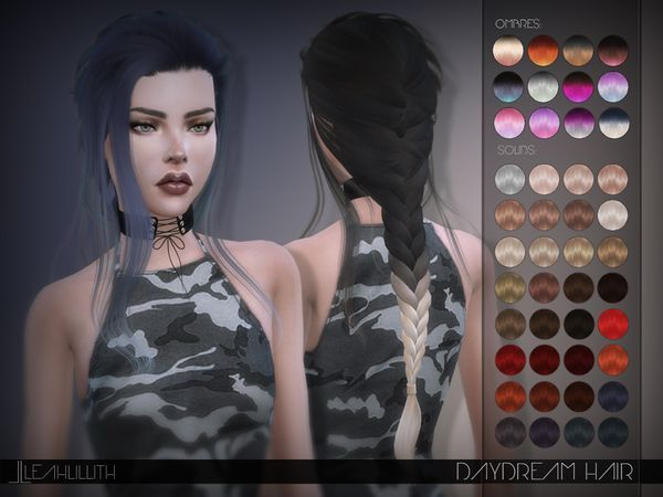 Leah Lillith's LeahLillith Daydream Hair Cheveux sims