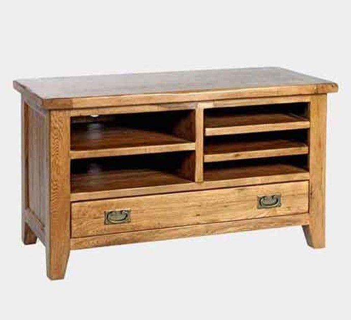 Florence Rustic Oak Small TV Unit With open shelf base with drawer. Description from blueoceaninteriors.co.uk. I searched for this on bing.com/images