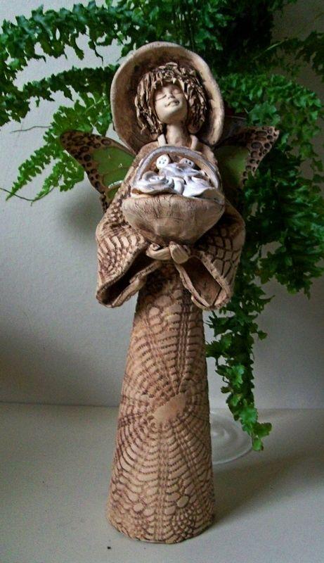 Anioł elf ceramiczny/ Ceramic angel