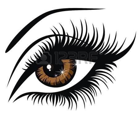 Ilustraci�n vectorial hermoso ojo marr�n femenino photo