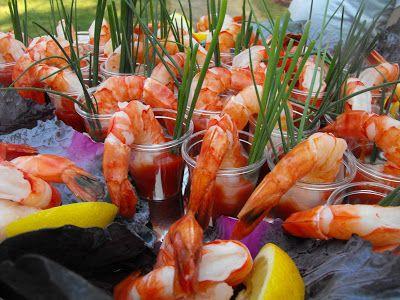 Shrimp in Shot Glasses