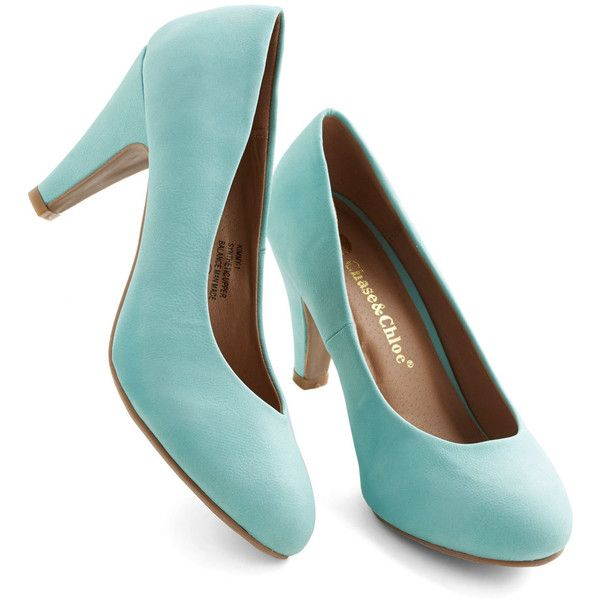 Pastel found on Polyvore featuring polyvore, fashion, shoes, pumps, heels, modcloth, mint, pump heel, pastel shoes and neon shoes