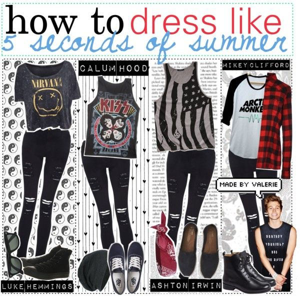 how to dress like 5 seconds of summer!