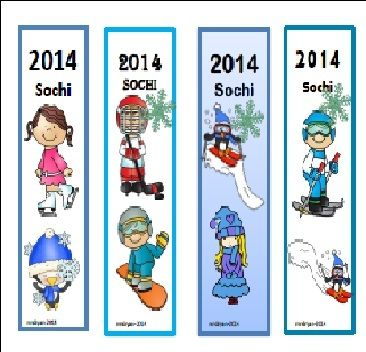 $ Les signets d'hiver - Sochi 2014 - Bookmarks for your students to help celebrate!