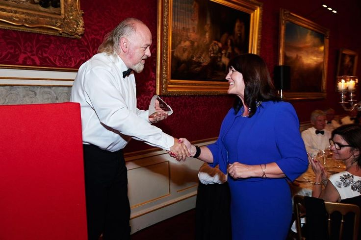 Bill Bailey presenting award to Wendy Bower