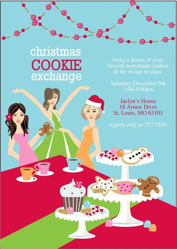 208 best images about Cookie Exchange Ideas – Cookie Party Invitation