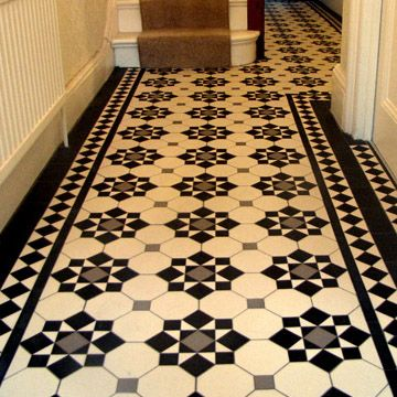 London Mosaic - Edwardian Period Reproduction Ceramic Tiled Hallway