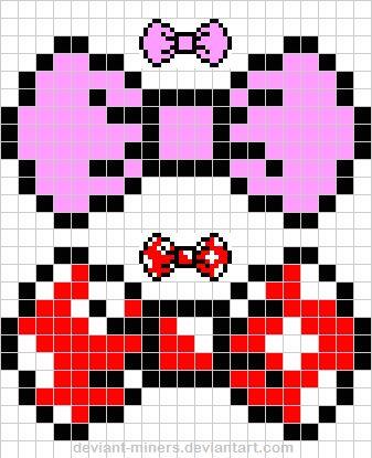Pixel Art Facile Fille