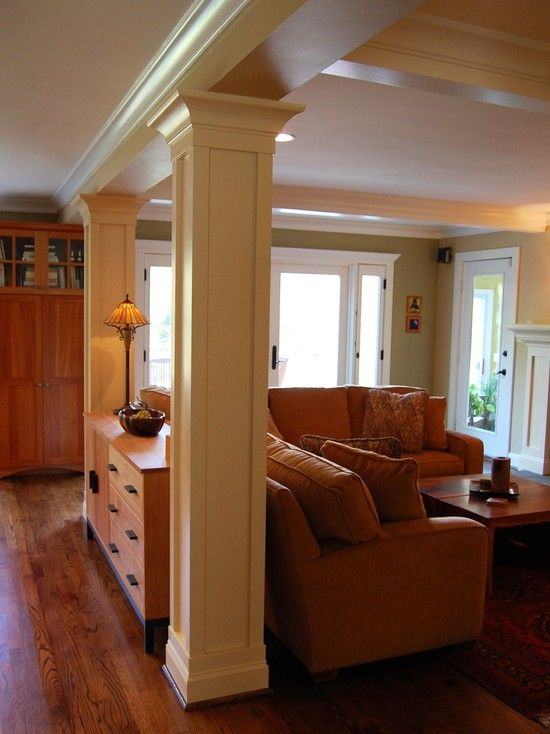 Support columns design pictures remodel decor and ideas for Redesign home interior