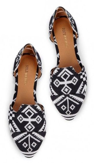 Black and White Printed Flats