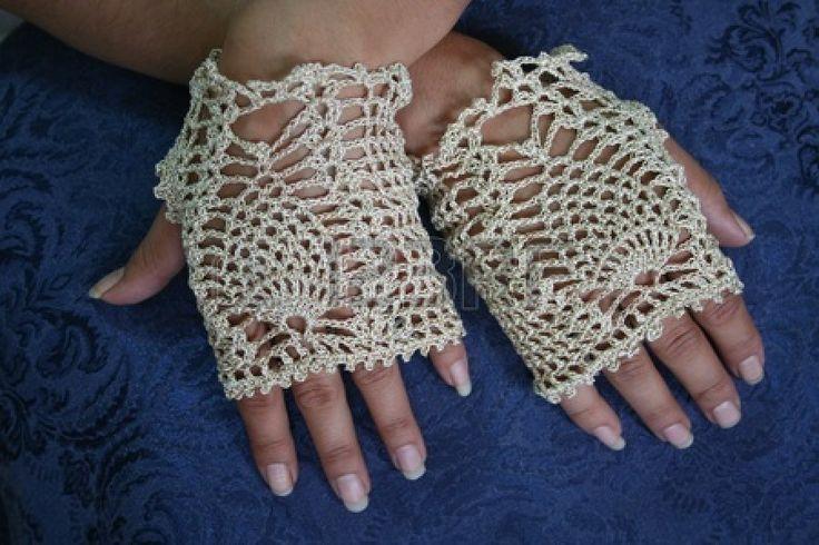 Fancy Haak Vingerloze Handschoenen Stockfoto - 13222941