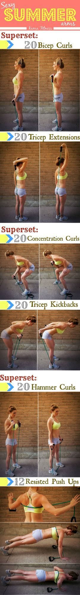 This workout is going to enhance your arms so you can feel confident while wearing that tank top of yours. Or bikini, you know. & guys, I know you like arm workouts so here you go. Switch up your dail