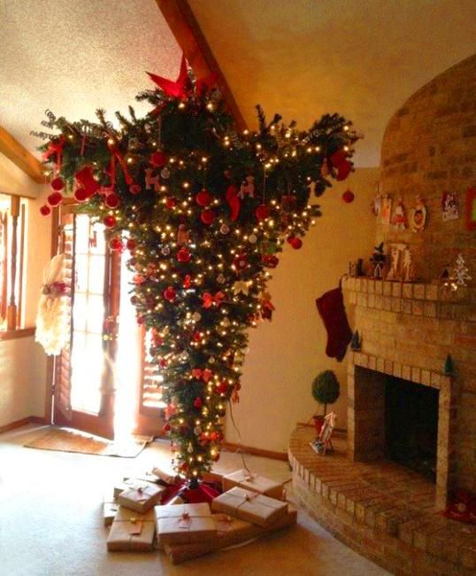 Image result for Upside down christmas trees