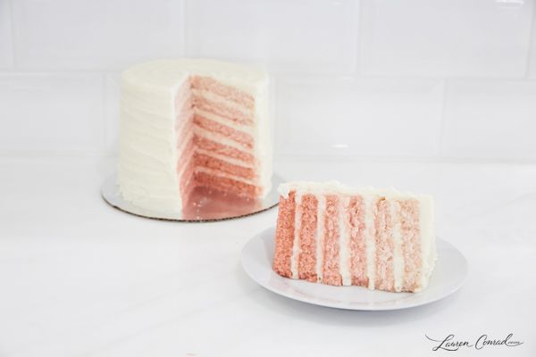 How to Make Pink Surprise Ombre Cake