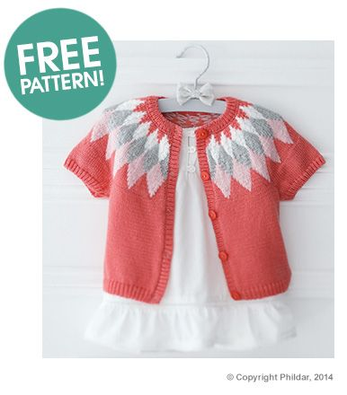 Phildar Cardigan Free Pattern | Deramores @nicolemlu evidently pinterest thinks i need to start crocheting!  This is an adorable cardigan!