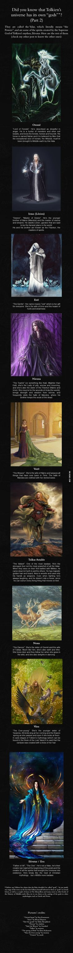 The Valar, part 2 - J.R.R. Tolkien's Mythology