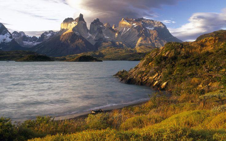 Lake, Mountain, Nature, Landscape, Chile