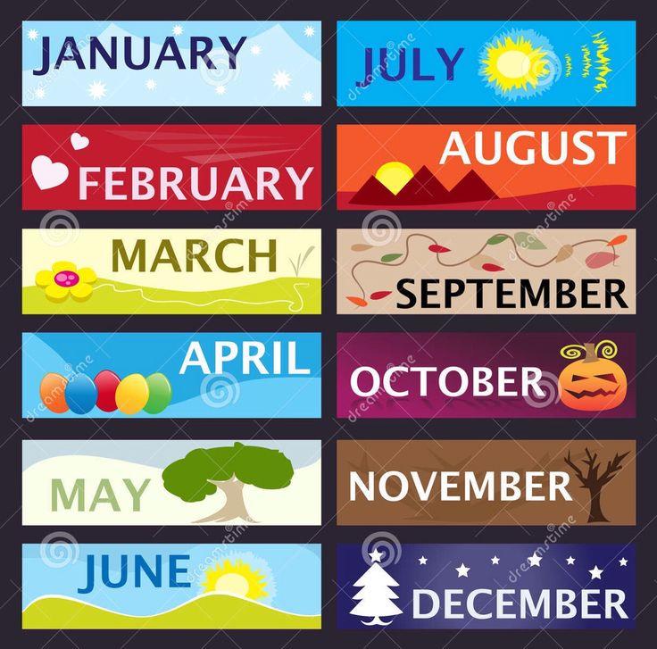 De maanden van het jaar.
