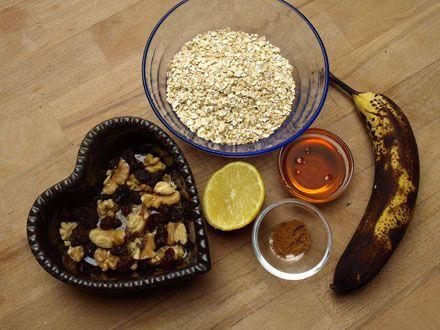 Ingrédients Biscuits avoine banane cannelle et miel