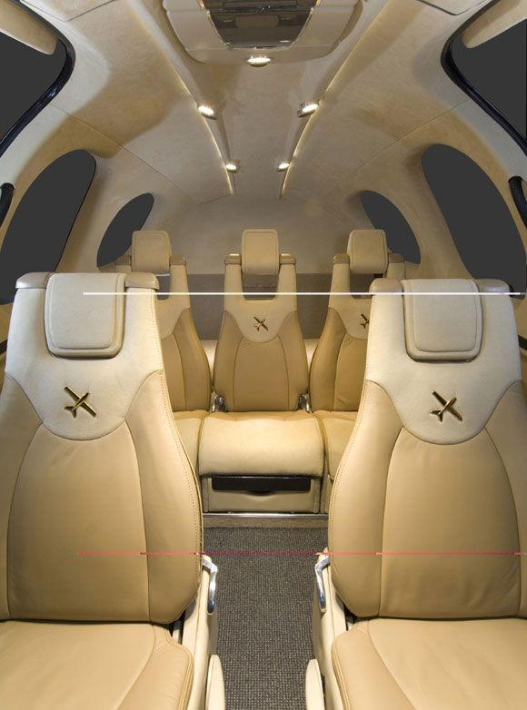 Great Seating in the Cirrus Vision Jet....