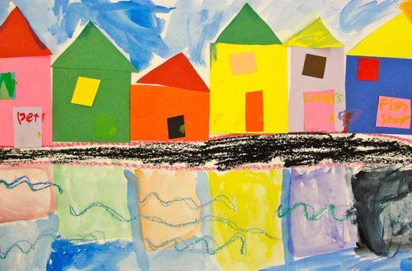 I love finding cute new ideas for my kindergarten after-school art class.
