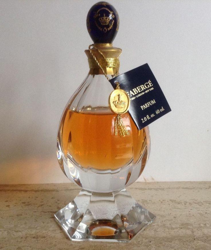 RARE parfum FABERGE flacon cristal St Louis numéroté