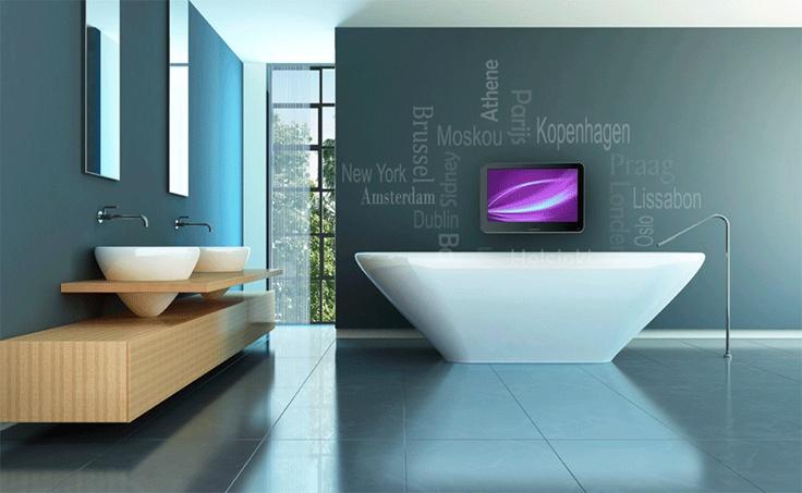 TV in de badkamer
