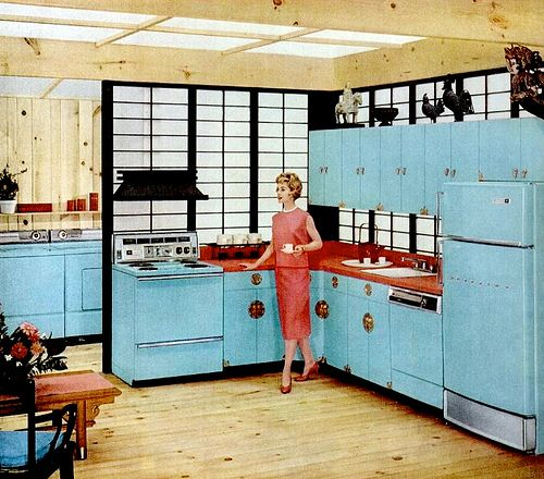 38 best images about home vintage kitchens on pinterest for Modern retro kitchen appliance