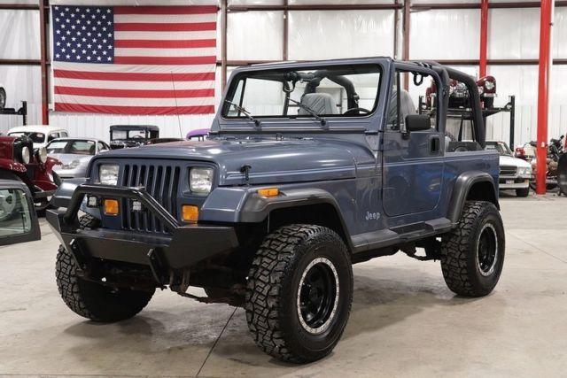 1992 Jeep Wrangler 32097 Miles Steel Blue Jeep 4 0l I6 Automatic Blue Jeep Blue Jeep Wrangler Jeep Wrangler For Sale