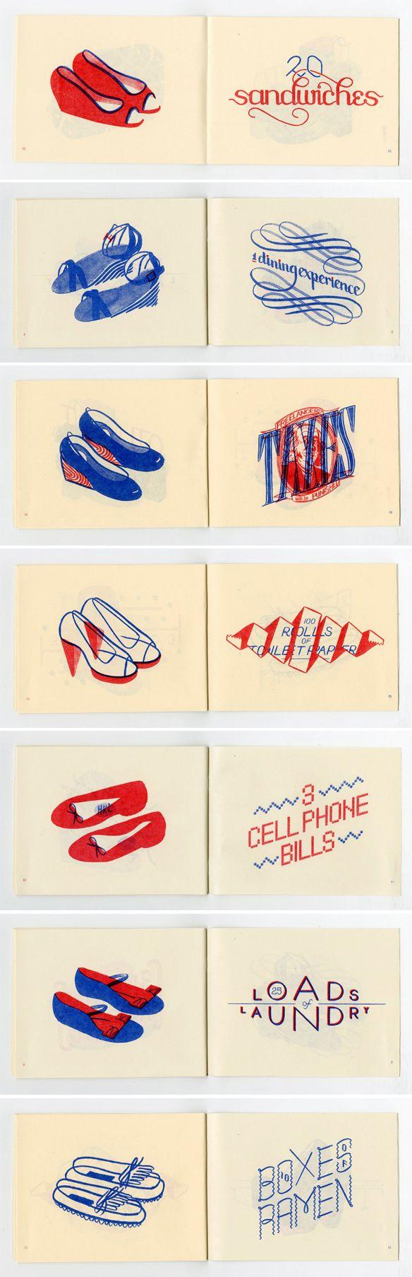 "hannah k. lee - a gorgeous little zine titled ""shoes over bills"""